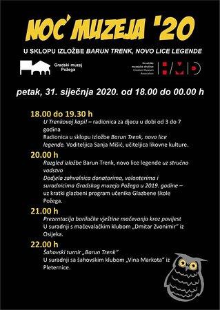 Pozega-Slavonia County, Croatia: 31.01.2020. Noć muzeja