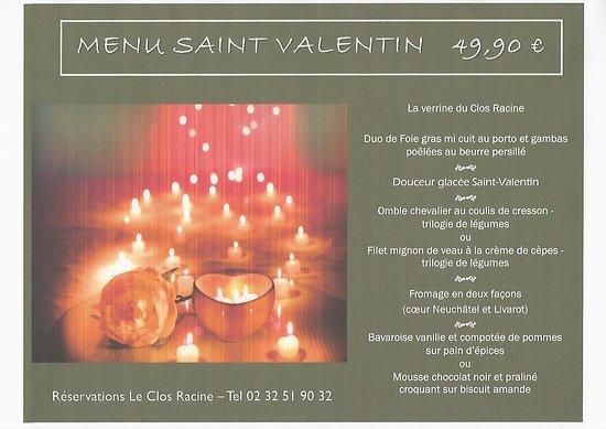 Gaillon, Fransa: menu st valentin 2020