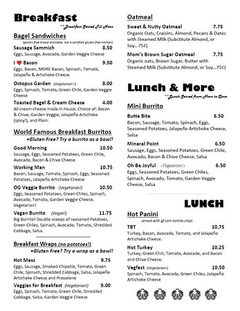 Our Breakfast and Lunch Food Menu.