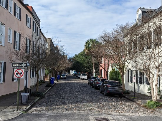 1-Hour Guided Carriage Tour of Charleston's Historic District: Cobblestone street