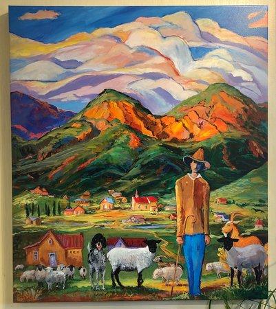"Shepherd Boy of Arroyo Seco    Oil    36x30"""