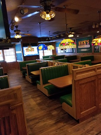 Durand, MI: Inside Nick's Hometown Grill. Back room picture.