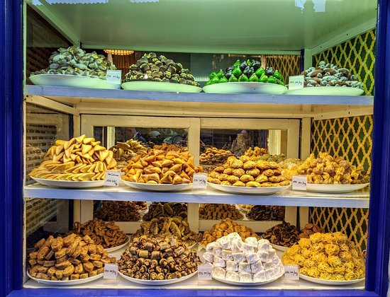 Authentic Moroccan Food Tour in Marrakech with Dinner: Pastries where we sampled one of the varieties