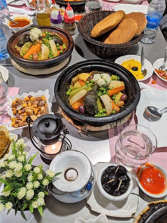 Authentic Moroccan Food Tour in Marrakech with Dinner: The dinner after the walking tour.