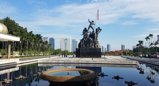 The National Monument is a sculpture that commemorates those who died in Malaysia's struggle for freedom, principally against the Japanese occupation during World War II and the Malayan Emergency, which lasted from 1948 until 1960. It is located in the Federal capital, Kuala Lumpur. The Malaysian Houses of Parliament is situated near the monument.