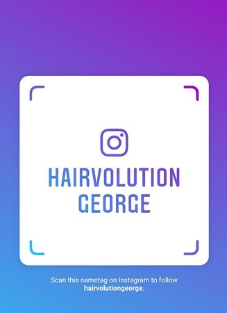 George, Sydafrika: Follow us by scanning our IG tag