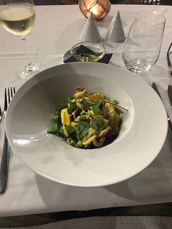 Duck Salad starter.