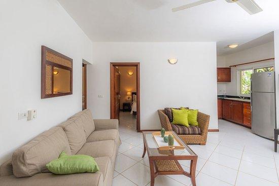 Sala y cocina de los apartamentos