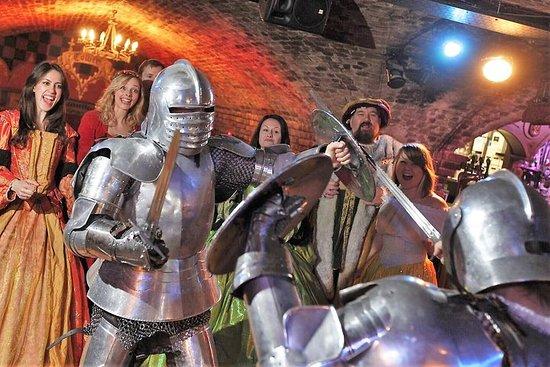 Banquet médiéval–Spectacle interactif, repas de 4plats, bière...