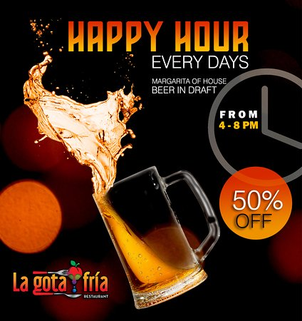It's midweek and we are waiting for you at our happy hour, every day, from 4 to 8 PM 😊🍺🎉