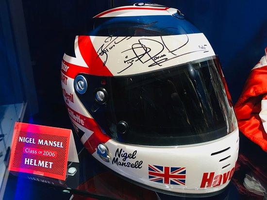 Nigel Mansell helmet