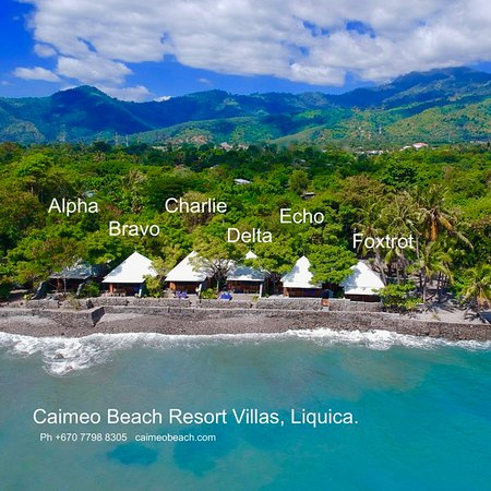 Liquica, Oost-Timor: Aerial photo of 6 villas.