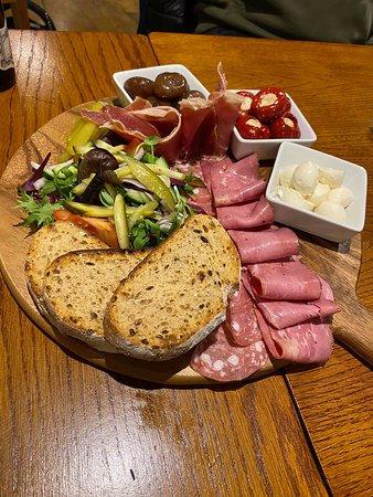Antipasti board, great as a sharing starter