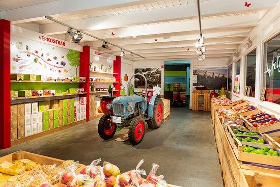 เดตเทลบาช, เยอรมนี: Große Auswahl regionaler Produkte. Das Obst aus eigenem Anbau ist knackig frisch und sehr lecker. Öffnungszeiten Mo-Fr 8-18, Sa 8-12