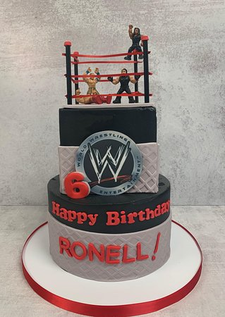 Astonishing Wwe Two Tier Cake Picture Of Flavor Cupcakery Bake Shop Bel Funny Birthday Cards Online Alyptdamsfinfo