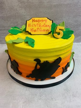 Magnificent Custom Lion King Birthday Cake Picture Of Flavor Cupcakery Funny Birthday Cards Online Alyptdamsfinfo