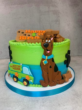 Terrific Scooby Doo Birthday Cake Picture Of Flavor Cupcakery Bake Shop Funny Birthday Cards Online Alyptdamsfinfo