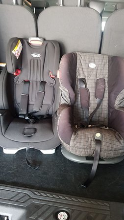 Free child seat and we could also safe keep your own car seat, our cars are cleaned by Visimax in Farnborough