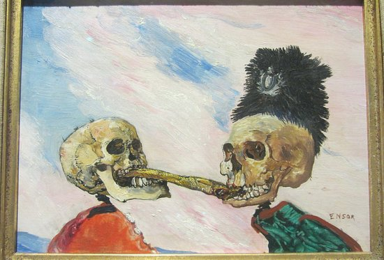 James Ensor, 'Skeletons Fighting over a Smoked Herring', 1891, Musee Fin-De-Siecle, Musees des Beaux-Arts, Brussels