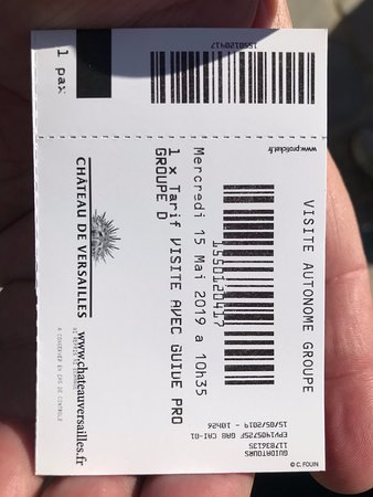 Reverse side of the ticket