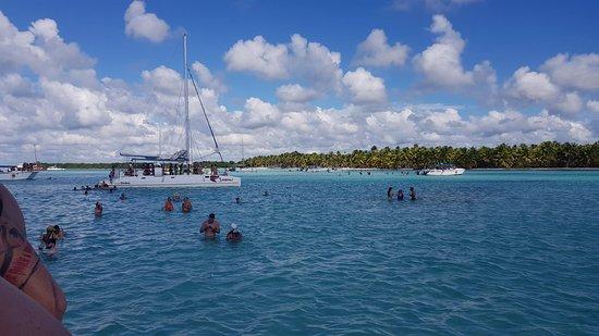 Πουέρτο Πλάτα, Δομινικανή Δημοκρατία: Party boat in the lagoon