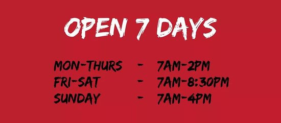 Updated trading hours.