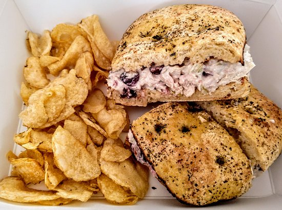 We have a great NEW CRANBERRY WALNUT CHICKEN SALAD for you to try! On a croissant or ciabatta roll!