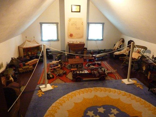 Attic toy room is Stafford-Whitman farm house