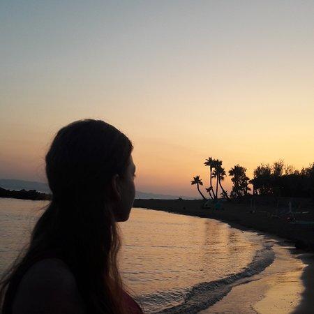 Jónské ostrovy, Řecko: Beautiful sunset in Greece!! camping ionian beach. Summer 2019