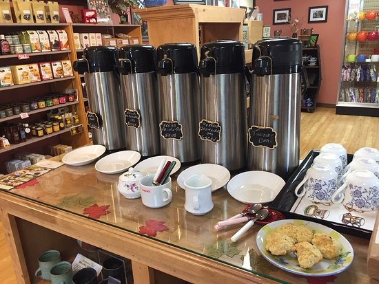 Brookfield, CT: Every Saturday (September - June)  from 10-4 we offer 4 teas and 1 coffee for sampling as well as scones or cookies.