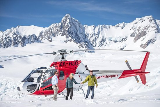 Helikoptervlucht boven de Franz ...
