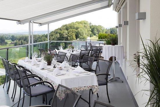 Hunenberg, Suiza: Terrasse