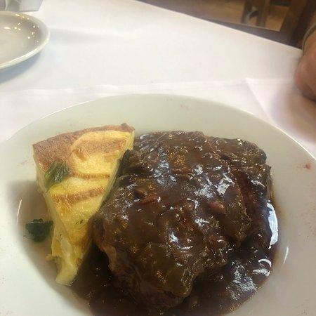 Muito bom!  Entrecote  al Malbec!!  Comemos em dois, pq comemos pouco, estava saboroso!