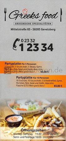Gevelsberg, Germany: Greeks Food