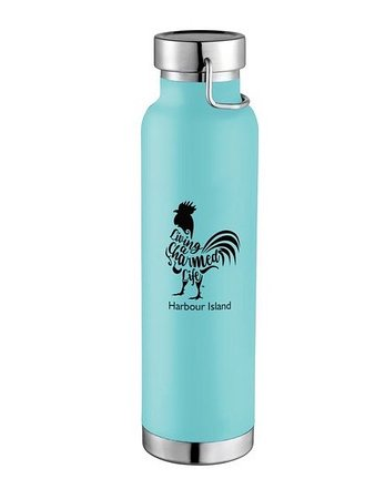 Harbour Island: We are so excited to announce our new Charmed Life Rooster Premium 22 oz. insulated bottles. Take your favorite beverage on the go to the beach, boating or even a night on the town! ⁣ ⁣ • Charmed Life Rooster Design ⁣ • 22 oz. Insulated bottle ⁣ • Keeps drinks hot for 12 hours and cold for 48 hours⁣ • Stainless steel vacuum design with copper insulation⁣ • Double-wall prevents condensation  ⁣ • Removable, screw-on cap  ⁣ • Fits almost all cup holders⁣ ⁣ Delivery 🚚 Available. ⁣