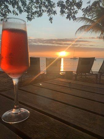 Sunset at O Beach bar