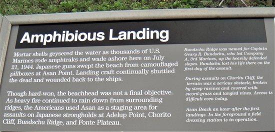 Asan, Quần đảo Mariana: Information board
