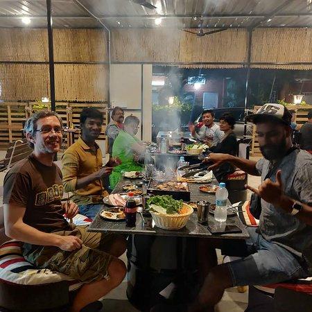 Penukonda, Индия: Korean BBQ 숯불고기, Pizza 피자, Juice 쥬스, Family, Friends
