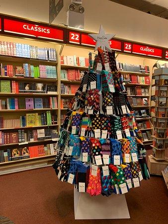 Christmas tree made of colorful socks