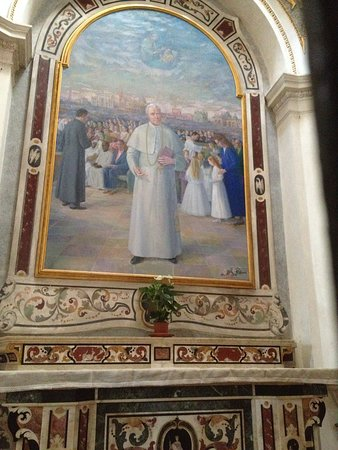 Altar of Pope St Pius X (who was bishop here for nine years)
