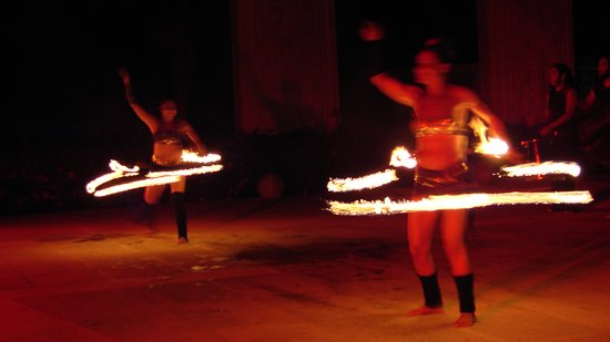 Amazing fire dancers show