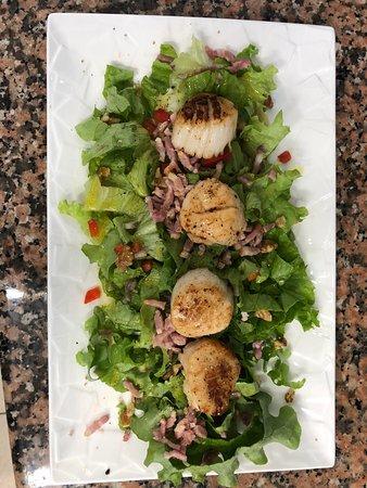 Le Relecq-Kerhuon, Francja: la salade de noix de saint-jacques au citron vert