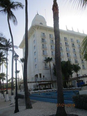 Vista desde la zona de playa del hotel