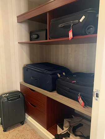 A nice large closet for our multiple bags