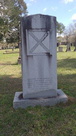 Clinton, LA: Stone acknowledging Confederate soldiers