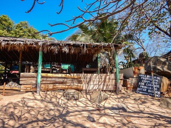 Restaurante La Ballena - Los Cobanos. Mariscos y bebidas en playa Los Cobanos.