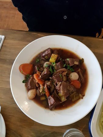 Beef stew, went down really well, so much food