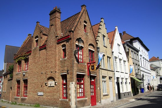 Bruggy, Belgie: Brugge, Belgium - old town of Bruges.