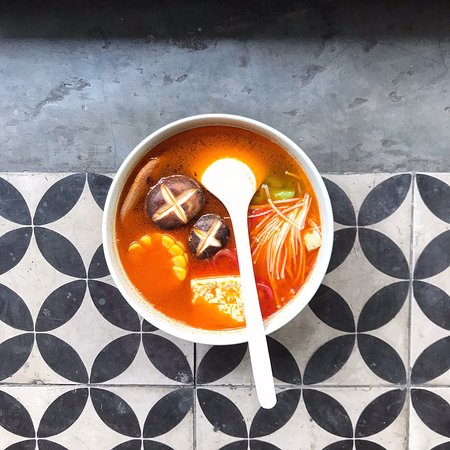 Simply the best! Try taro chips and veggie tomato soup! Are fantastic! Suitable also for vegan and vegetarian as me. Love