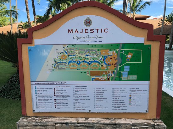 Resort map clearly showing which building are club buildings.